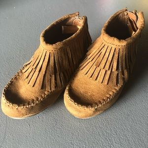 Old Navy Fringed Moccasin Bootie